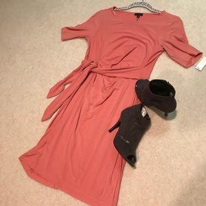Talbots 2 Dress Peach pink waist tie 💕NWT